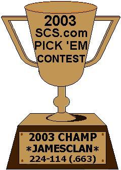 SCS.com Pick 'Em Contest