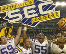 SEC Champion LSU Tigers - courtesy lsusports.net