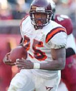 Kevin Jones, RB, Virginia Tech - courtesy hokiesports.com