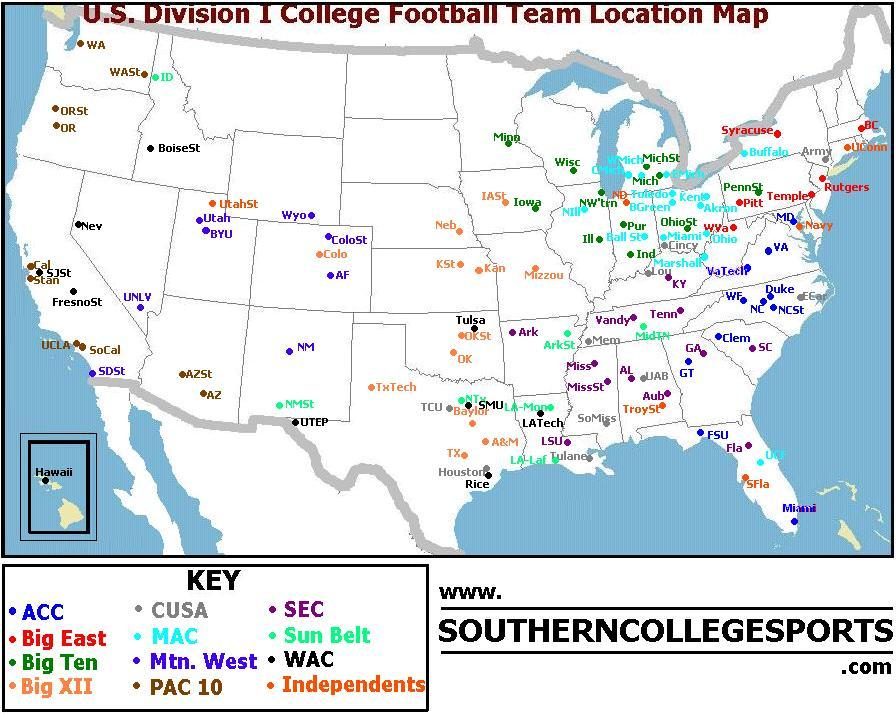 ncaa football com division 1 colleges football
